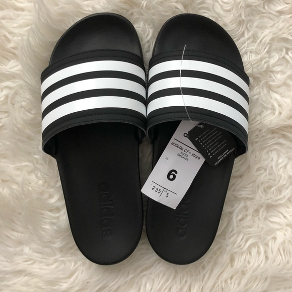 9eaa7205b0cb Adidas Adilette Cloudfoam Plus Stripes Slides